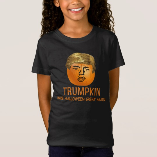 Trumpkin Make Halloween Great Again Girls' Fine Jersey T-Shirt