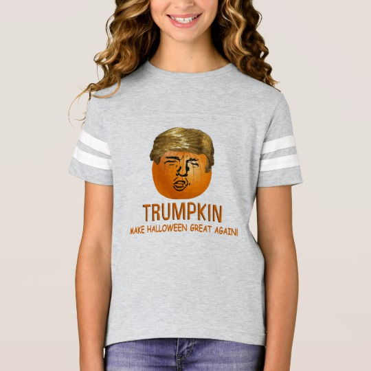Trumpkin Make Halloween Great Again Girls' Football Shirt