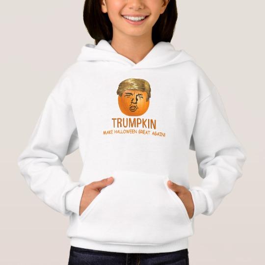 Trumpkin Make Halloween Great Again Girls' Hanes ComfortBlend® Hoodie