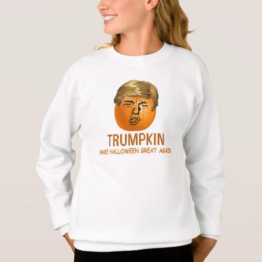 Trumpkin Make Halloween Great Again Girls' Hanes ComfortBlend® Sweatshirt