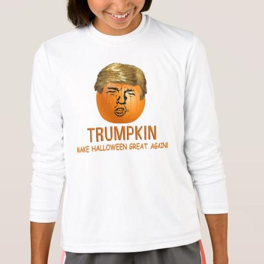 Trumpkin Make Halloween Great Again Girls' Sport-Tek Competitor Long Sleeve T-Shirt