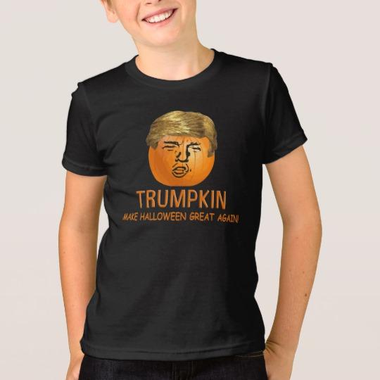 Trumpkin Make Halloween Great Again Kids' American Apparel Fine Jersey T-Shirt