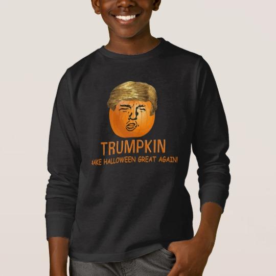 Trumpkin Make Halloween Great Again Kids' Basic Long Sleeve T-Shirt