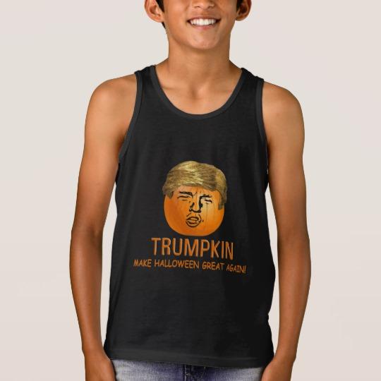 Trumpkin Make Halloween Great Again Kids' Bella+Canvas Jersey Tank Top
