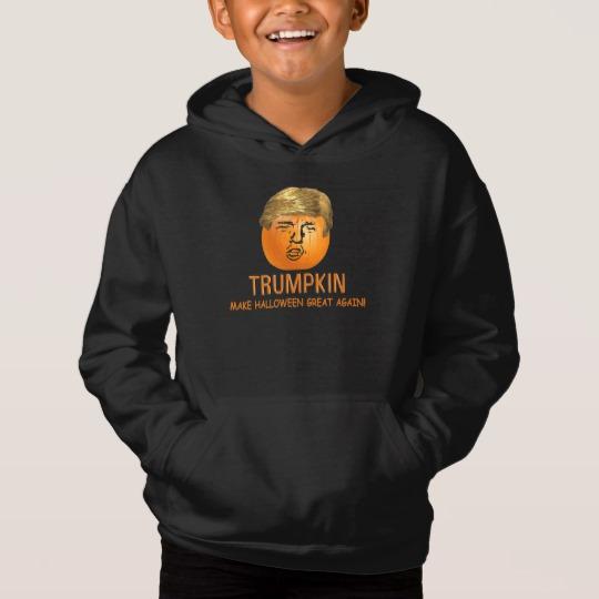 Trumpkin Make Halloween Great Again Kids' Fleece Pullover Hoodie