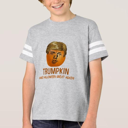 Trumpkin Make Halloween Great Again Kids' Football Shirt
