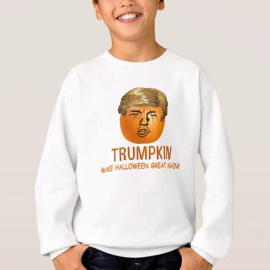Trumpkin Make Halloween Great Again Kids' Hanes ComfortBlend® Sweatshirt