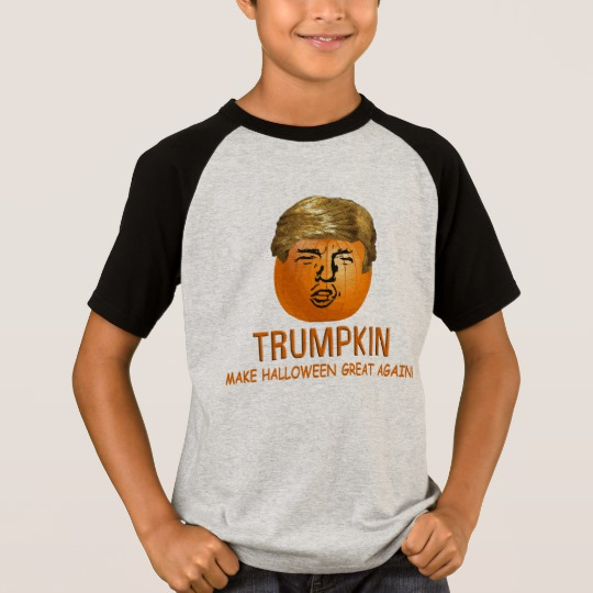 Trumpkin Make Halloween Great Again Kids' Short Sleeve Raglan T-Shirt