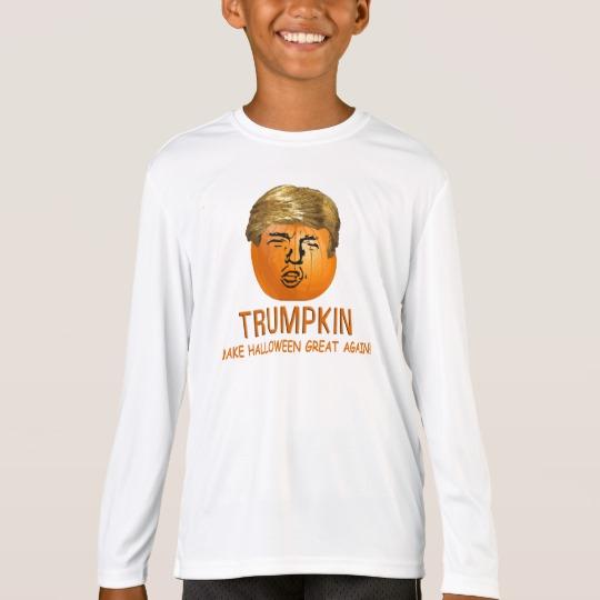 Trumpkin Make Halloween Great Again Kids' Sport-Tek Competitor Long Sleeve T-Shirt