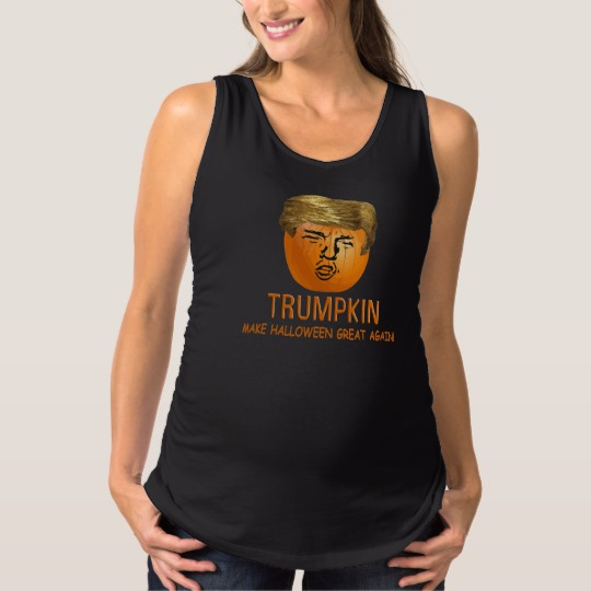 Trumpkin Make Halloween Great Again Maternity Tank Top