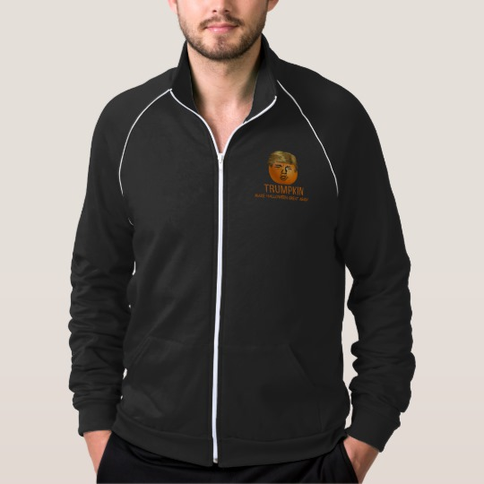Trumpkin Make Halloween Great Again Men's American Apparel California Fleece Track Jacket