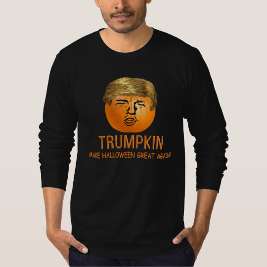 Trumpkin Make Halloween Great Again Men's American Apparel Fine Jersey Long Sleeve T-Shirt