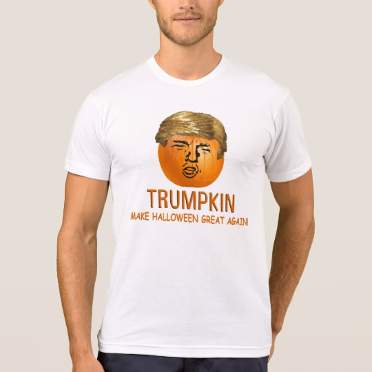 Trumpkin Make Halloween Great Again Men's American Apparel Poly-Cotton Blend T-Shirt