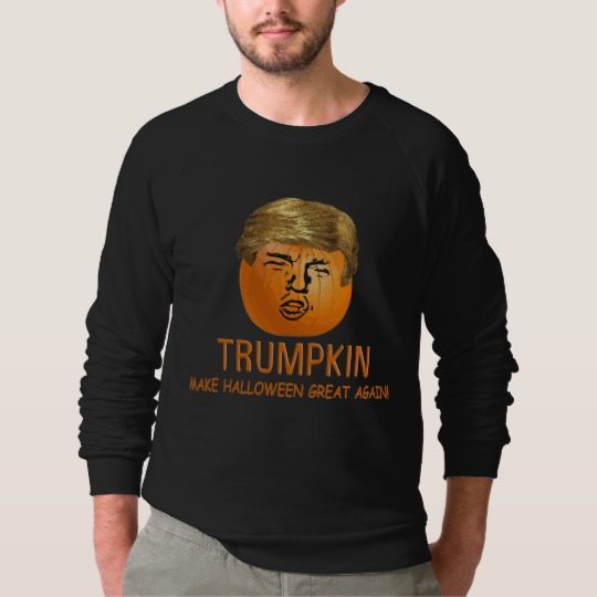 Trumpkin Make Halloween Great Again Men's American Apparel Raglan Sweatshirt