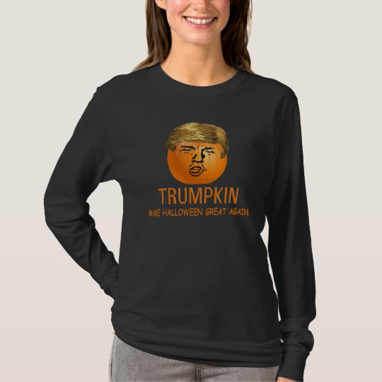 Trumpkin Make Halloween Great Again Men's Basic Long Sleeve T-Shirt