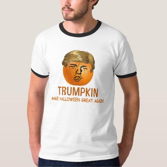 Trumpkin Make Halloween Great Again Men's Basic Ringer T-Shirt