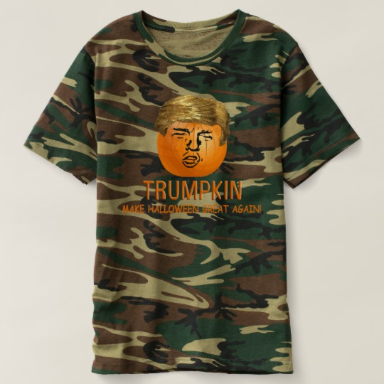 Trumpkin Make Halloween Great Again Men's Camouflage T-Shirt