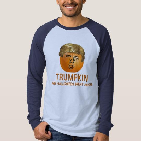 Trumpkin Make Halloween Great Again Men's Canvas Long Sleeve Raglan T-Shirt