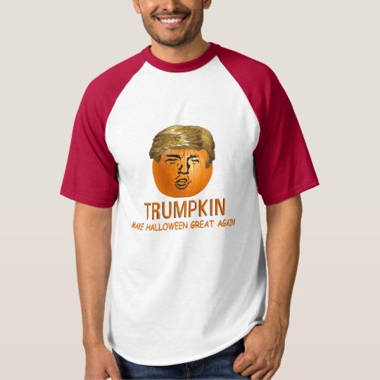 Trumpkin Make Halloween Great Again Men's Raglan Baseball T-Shirt