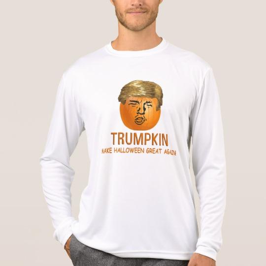 Trumpkin Make Halloween Great Again Men's Sport-Tek Competitor Long Sleeve T-Shirt