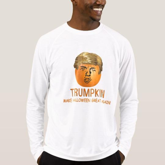 Trumpkin Make Halloween Great Again Men's Sport-Tek Fitted Performance Long Sleeve T-Shirt