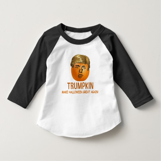Trumpkin Make Halloween Great Again Toddler American Apparel 3/4 Sleeve Raglan T-Shirt
