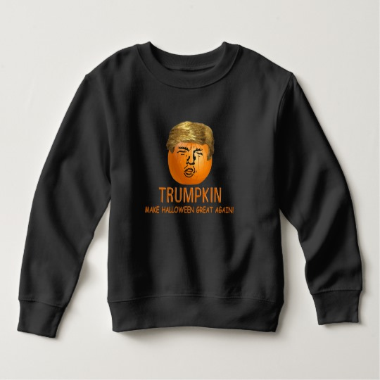 Trumpkin Make Halloween Great Again Toddler Fleece Sweatshirt