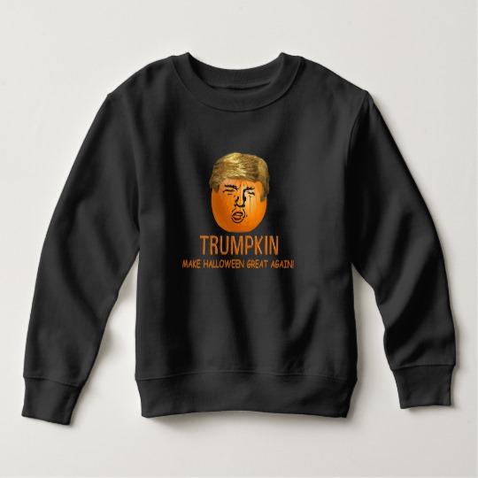 Trumpkin Make Halloween Great Again Toddler Fleece Sweatshirt