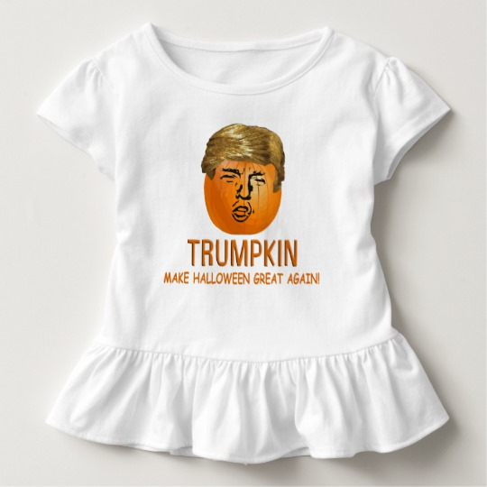 Trumpkin Make Halloween Great Again Toddler Ruffle Tee