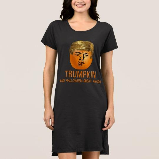 Trumpkin Make Halloween Great Again Women's Alternative Apparel T-Shirt Dress