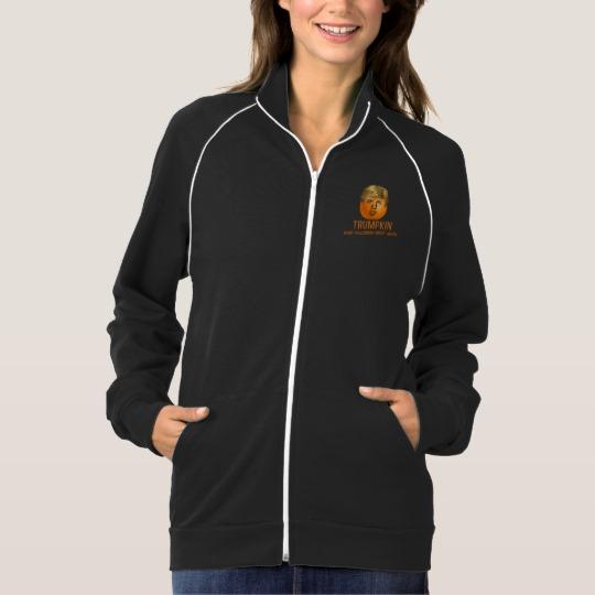 Trumpkin Make Halloween Great Again Women's American Apparel California Fleece Track Jacket