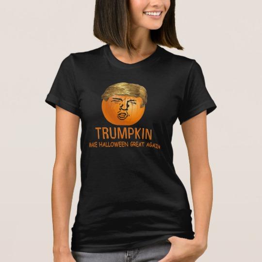 Trumpkin Make Halloween Great Again Women's American Apparel Fine Jersey T-Shirt