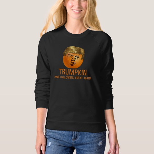 Trumpkin Make Halloween Great Again Women's American Apparel Raglan Sweatshirt