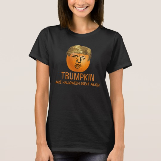 Trumpkin Make Halloween Great Again Women's Basic T-Shirt