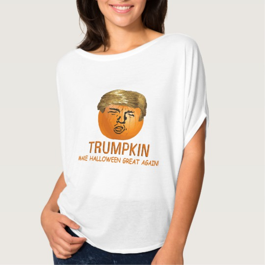 Trumpkin Make Halloween Great Again Women's Bella+Canvas Flowy Circle Top