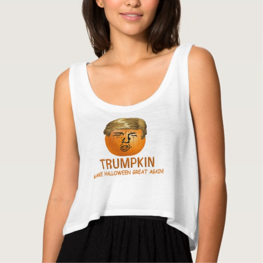 Trumpkin Make Halloween Great Again Women's Bella+Canvas Flowy Crop Tank Top