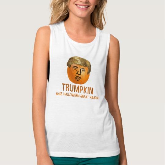 Trumpkin Make Halloween Great Again Women's Bella+Canvas Flowy Muscle Tank Top