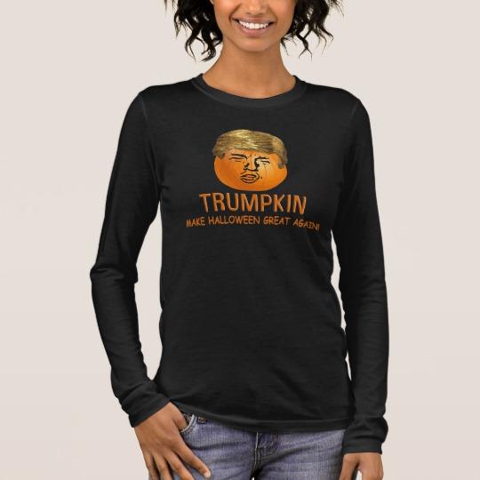 Trumpkin Make Halloween Great Again Women's Bella+Canvas Long Sleeve T-Shirt