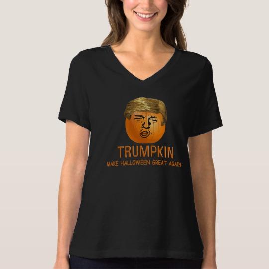 Trumpkin Make Halloween Great Again Women's Bella+Canvas Relaxed Fit V-Neck T-Shirt