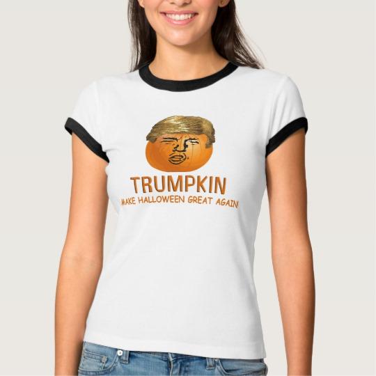 Trumpkin Make Halloween Great Again Women's Bella+Canvas Ringer T-Shirt