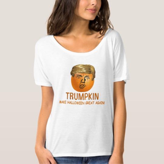 Trumpkin Make Halloween Great Again Women's Bella+Canvas Slouchy Boyfriend T-Shirt