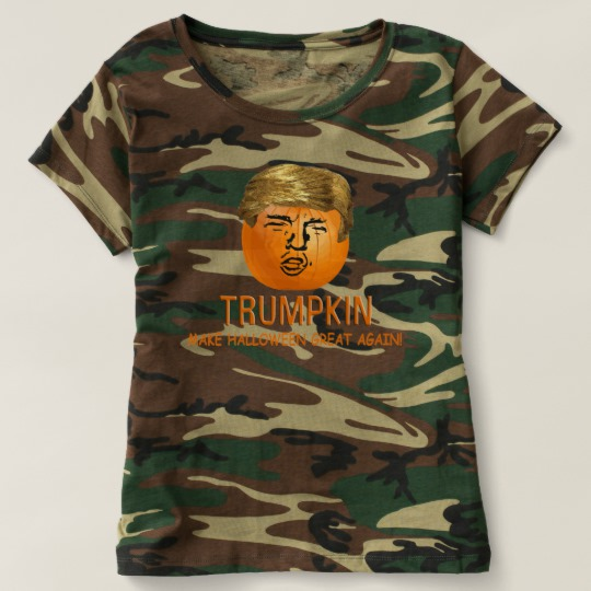 Trumpkin Make Halloween Great Again Women's Camouflage T-Shirt