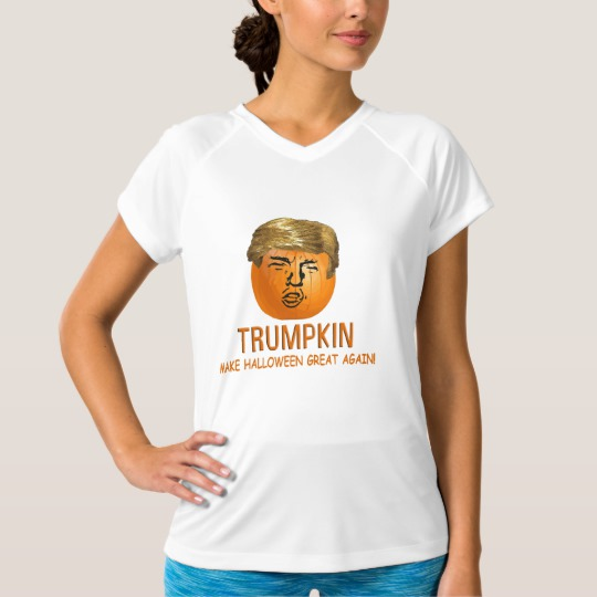 Trumpkin Make Halloween Great Again Women's Champion Double-Dry V-Neck T-Shirt
