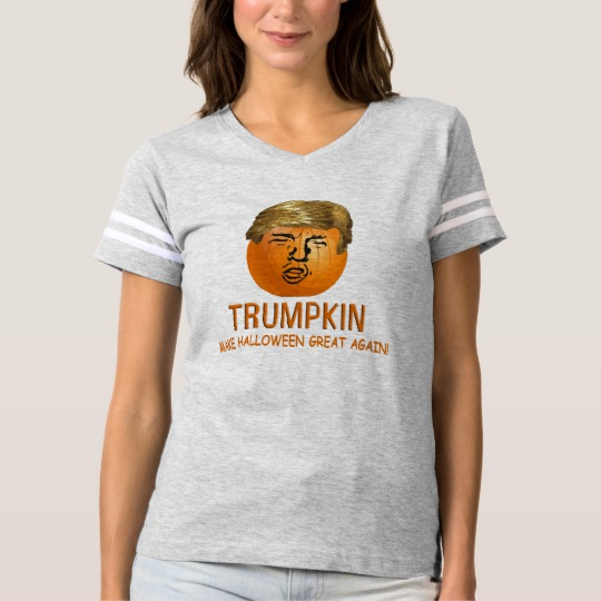 Trumpkin Make Halloween Great Again Women's Football T-Shirt