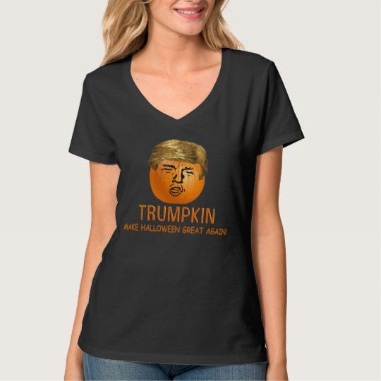 Trumpkin Make Halloween Great Again Women's Hanes Nano V-Neck T-Shirt