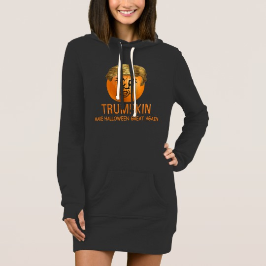 Trumpkin Make Halloween Great Again Women's Hoodie Dress