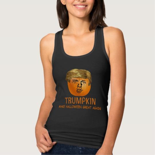 Trumpkin Make Halloween Great Again Women's Slim Fit Racerback Tank Top