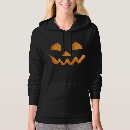 Jack O Lantern Face American Apparel California Fleece Pullover Hoodie