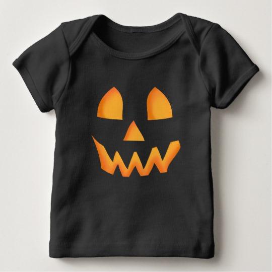 Jack O Lantern Face Baby American Apparel Lap T-Shirt