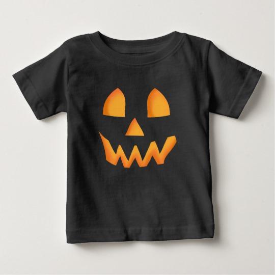 Jack O Lantern Face Baby Fine Jersey T-Shirt